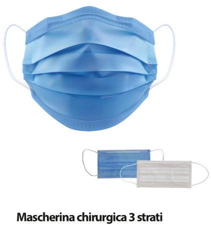 MASCHERINA CHIRURGICA ADULTO TIPO IIR CF.50PZ