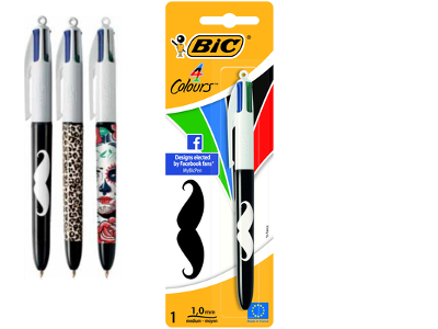 BIRO BIC 4 COLOURS DECORATA (1PZ) 931881