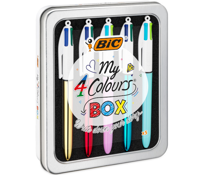 BIC SPECIAL PACK 4COLOURS METAL BOX - 5pz 967279