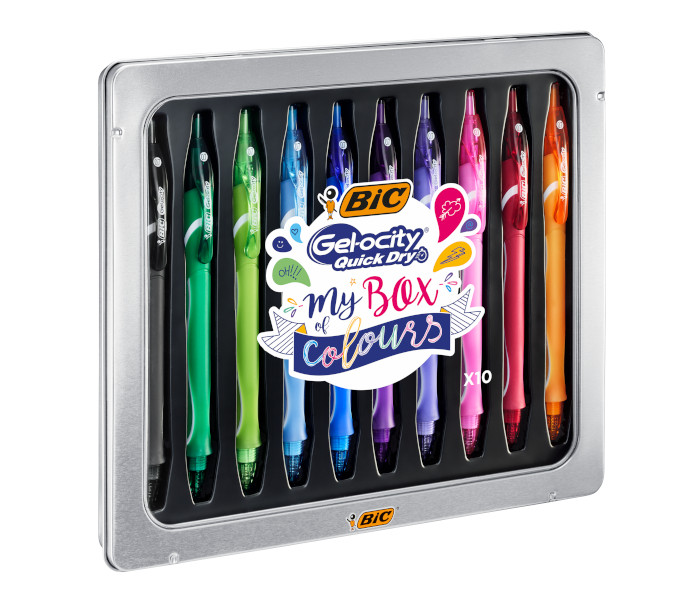 BIC SPECIAL PACK GELOCITY QUICKDRY -10pz METAL BOX 972040
