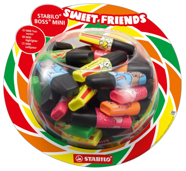 EVID.STABILO BOSS MINI SWEET FRIENDS BONBON -50pz 07/50-08