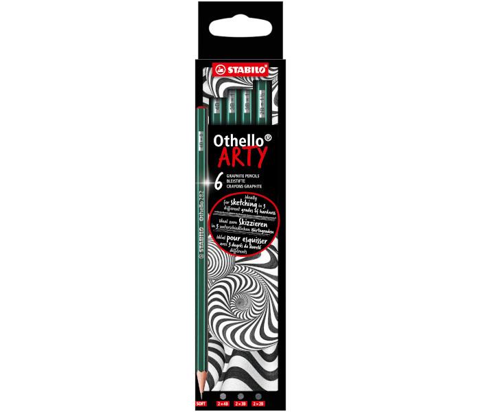 STABILO OTHELLO ARTY LINE MATITE MORBIDE 4B/3B/2B -6pz 282/6-21-1-20