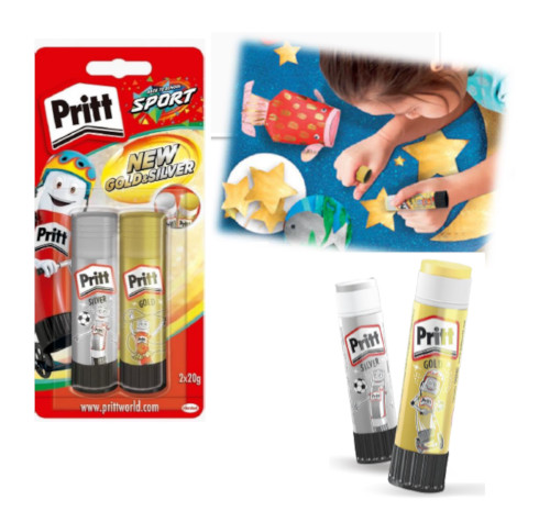 COLLA STICK PRITT GOLD SILVER GR.20 (pack 1+1pz) 2713596