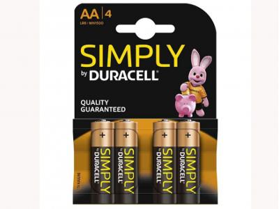 DURACELL STILO SIMPLY AA -4pz
