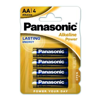 PANASONIC PILE STILO ALKALINA AA -4pz LR6