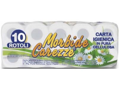 CARTA IGIENICA 10 ROTOLI 2V. CAREZZE 111