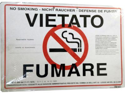 CARTELLO VIETATO FUMARE 06050 -2pz