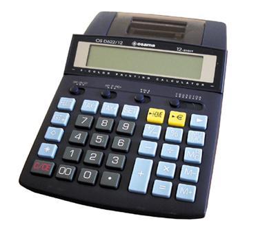 CALCOLATR.OSAMA D622/12 EURO SCRIV.