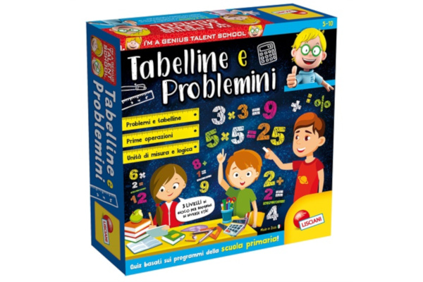 LISCIANI I'M A GENIUS TS TABELLINE E PROBLEMINI 48885*