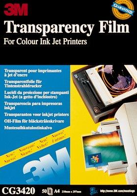 ACETATI 3M INKJET CG3420 -50pz