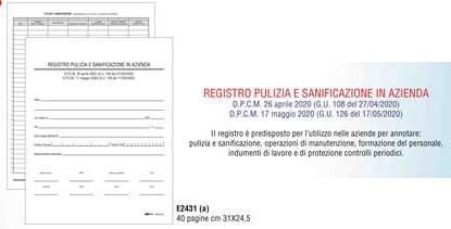 E2431 REGISTRO PULIZIA E SANIFICAZIONE IN AZIENDA 40PAG.