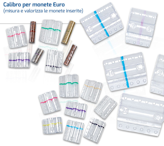 BLISTER PER MONETE 1 EURO TRASP. -100PZ 8006TRBC