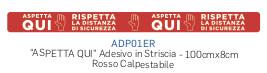 ADESIVO -ASPETTA QUI- CM.8X1MT ROSSO DA PAVIMENTO ADP01ER