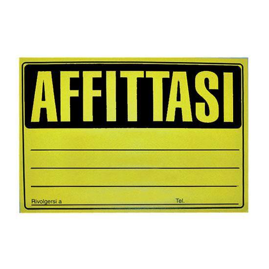 CARTELLO AFFITTASI FLUO 23X33 -25pz 41/036