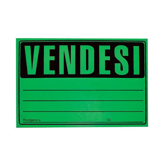 CARTELLO VENDESI FLUO 23X33 -25pz 41/037