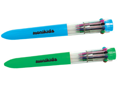 BIRO 10 COLOURS MONIKIDS -24pz 12/122