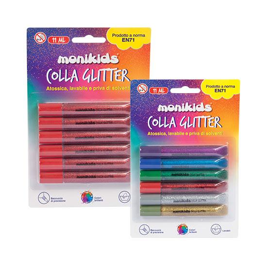 GLITTER GLUE 11ml. bl.6pz COL.ASS 22/054
