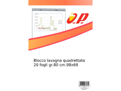 BLOCCO LAVAGNA QUADRETT. 20FG. GR.80 70x100 OP