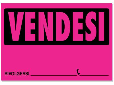 CARTELLO VENDESI FLUO 23x33 (10) VE01