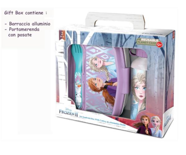 BORRACCIA ALL.+PORTAMERENDA C/POSATE FROZEN GIFT BOX ST51063