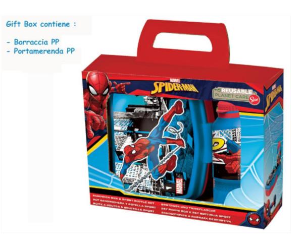 BORRACCIA+PORTAMERENDA PP SPIDERMAN GIFT BOX ST51373